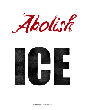 Abolish ICE Protest Sign