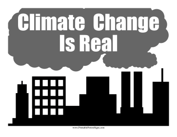 Climate Change Is Real Protest Sign