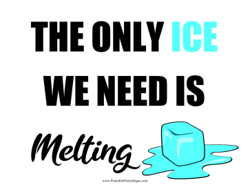 ICE Melting Protest Sign